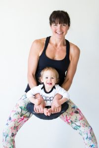 Mommy and Baby doing Yoga